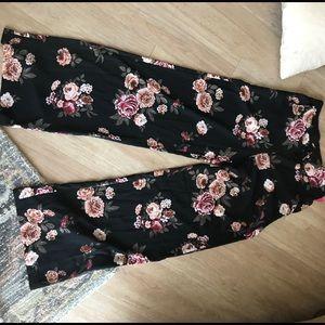 Flower flare pants